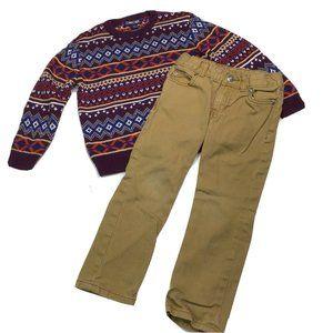 Cherokee Sweater Carters Khaki Pants Boys 4T